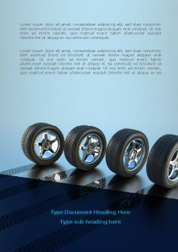 Tires On Wheels Word Template, Cover Page, 08146, Careers/Industry — PoweredTemplate.com