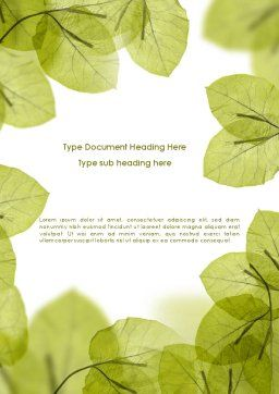 Lucid Leaves Word Template Cover Page