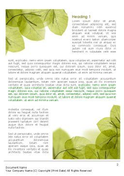 Lucid Leaves Word Template First Inner Page