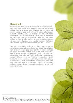 Lucid Leaves Word Template Second Inner Page