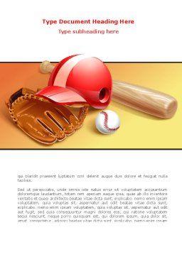 Baseball Bat Word Template, Cover Page, 08149, Sports — PoweredTemplate.com