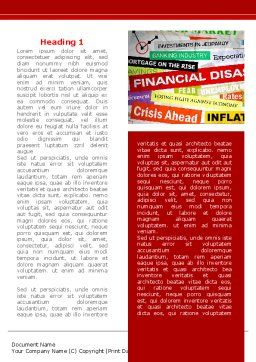 Financial Disaster Word Template, First Inner Page, 08154, Financial/Accounting — PoweredTemplate.com