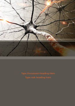 Neurons Networks Word Template, Cover Page, 08156, Medical — PoweredTemplate.com