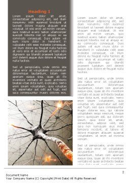 Neurons Networks Word Template, First Inner Page, 08156, Medical — PoweredTemplate.com