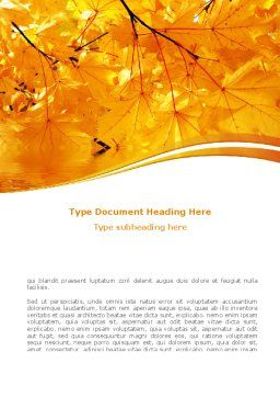 Yellow Tree Word Template, Cover Page, 08157, Nature & Environment — PoweredTemplate.com
