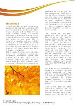 Yellow Tree Word Template, First Inner Page, 08157, Nature & Environment — PoweredTemplate.com