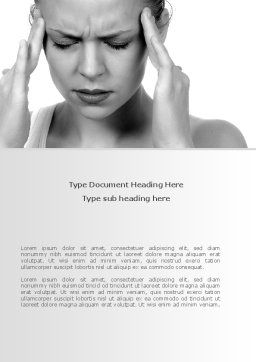 Migraine Word Template, Cover Page, 08158, Medical — PoweredTemplate.com