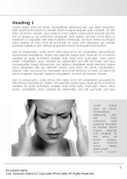 Migraine Word Template, First Inner Page, 08158, Medical — PoweredTemplate.com