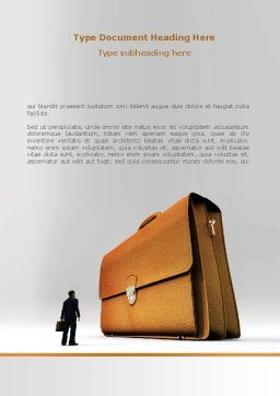 Briefcase Word Template, Cover Page, 08160, Business — PoweredTemplate.com