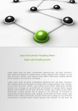 Network Link Word Template, Cover Page, 08161, Technology, Science & Computers — PoweredTemplate.com