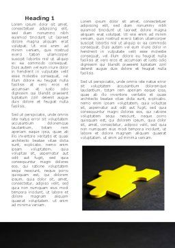 Yellow Jigsaw On A Dark Gray Surface Word Template, First Inner Page, 08165, Consulting — PoweredTemplate.com