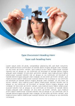 Folding Puzzle Word Template, Cover Page, 08168, Consulting — PoweredTemplate.com