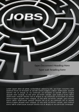 Employment Labyrinth Word Template, Cover Page, 08169, Careers/Industry — PoweredTemplate.com