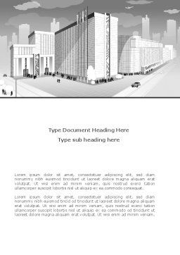 City Architecture Word Template, Cover Page, 08176, Construction — PoweredTemplate.com
