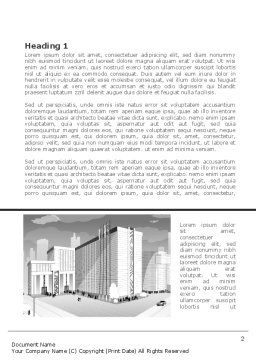 City Architecture Word Template, First Inner Page, 08176, Construction — PoweredTemplate.com