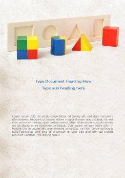 Fraction Toys Word Template, Cover Page, 08178, Education & Training — PoweredTemplate.com