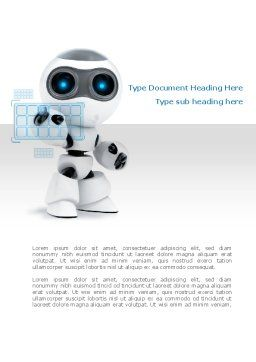 Robot Model Word Template, Cover Page, 08181, Technology, Science & Computers — PoweredTemplate.com