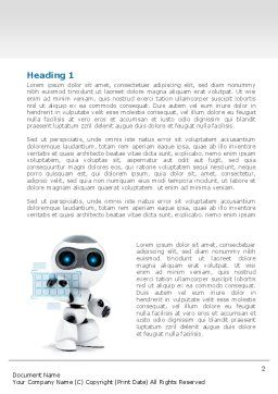 Robot Model Word Template, First Inner Page, 08181, Technology, Science & Computers — PoweredTemplate.com