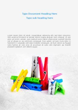 Clothespin Word Template, Cover Page, 08182, Business Concepts — PoweredTemplate.com