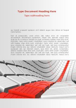 Keyboard Red Line Word Template, Cover Page, 08183, Business Concepts — PoweredTemplate.com