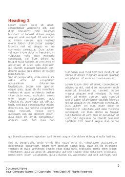 Keyboard Red Line Word Template, First Inner Page, 08183, Business Concepts — PoweredTemplate.com