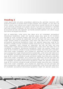 Keyboard Red Line Word Template, Second Inner Page, 08183, Business Concepts — PoweredTemplate.com