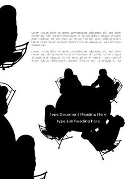Discussion Table Word Template, Cover Page, 08185, Education & Training — PoweredTemplate.com