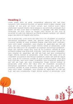 Orange Autumn Illustration Word Template Second Inner Page