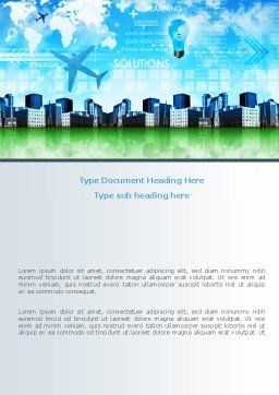 Trans International Services Word Template, Cover Page, 08187, Consulting — PoweredTemplate.com