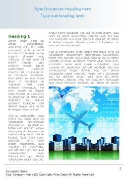 Trans International Services Word Template, First Inner Page, 08187, Consulting — PoweredTemplate.com
