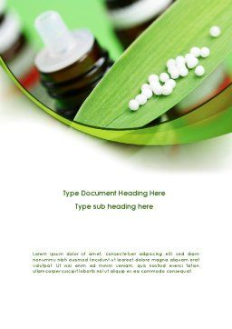 Homeopathic Remedy Word Template, Cover Page, 08188, Medical — PoweredTemplate.com