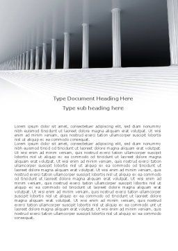 3D Colonnade Word Template, Cover Page, 08189, Construction — PoweredTemplate.com