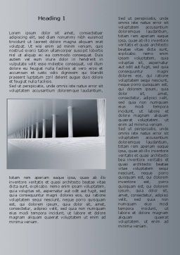 3D Colonnade Word Template, First Inner Page, 08189, Construction — PoweredTemplate.com