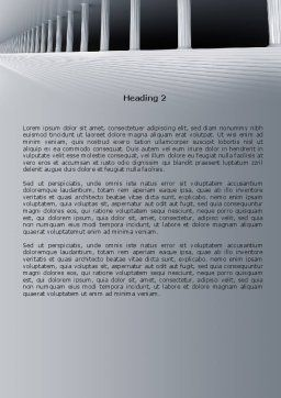 3D Colonnade Word Template, Second Inner Page, 08189, Construction — PoweredTemplate.com