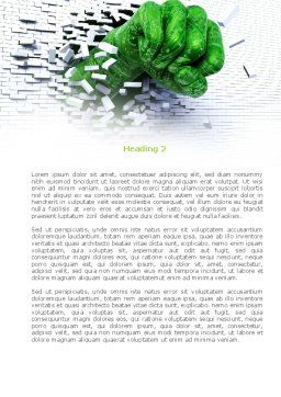 Technological Breakthrough Word Template, Second Inner Page, 08191, Technology, Science & Computers — PoweredTemplate.com