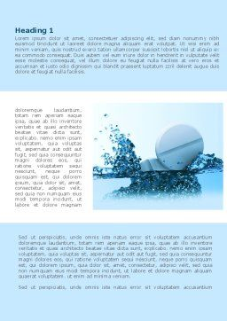 Tablets In Water Word Template, First Inner Page, 08192, Medical — PoweredTemplate.com