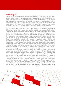 Surface Fragments Word Template, Second Inner Page, 08193, Business — PoweredTemplate.com