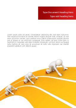 Sprint Runners Word Template, Cover Page, 08194, Education & Training — PoweredTemplate.com