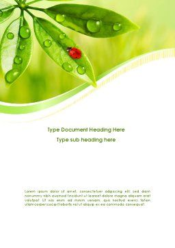 Ladybird on Leaf Word Template Cover Page