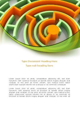 Labyrinth Solution Word Template, Cover Page, 08197, Consulting — PoweredTemplate.com