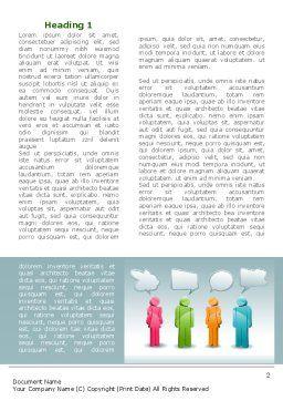 Speech Bubbles Word Template, First Inner Page, 08198, Telecommunication — PoweredTemplate.com