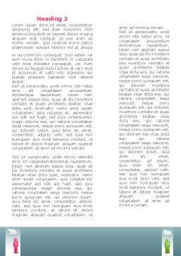 Speech Bubbles Word Template, Second Inner Page, 08198, Telecommunication — PoweredTemplate.com
