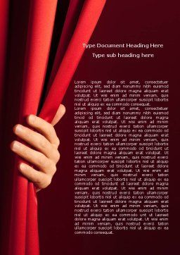 Red Curtain Word Template Cover Page