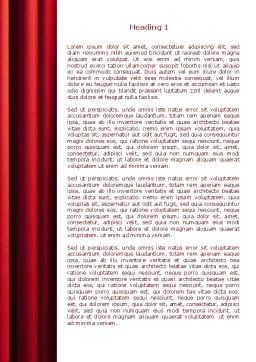 Red Curtain Word Template First Inner Page