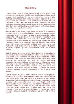Red Curtain Word Template Second Inner Page