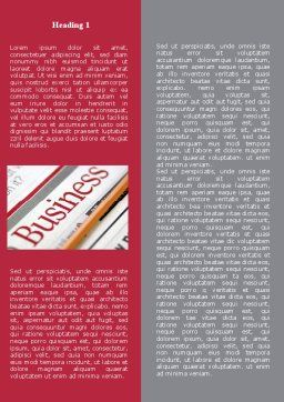 Business Newspaper Word Template, First Inner Page, 08203, Business — PoweredTemplate.com