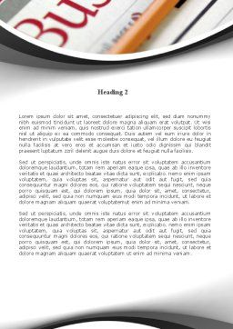 Business Newspaper Word Template, Second Inner Page, 08203, Business — PoweredTemplate.com