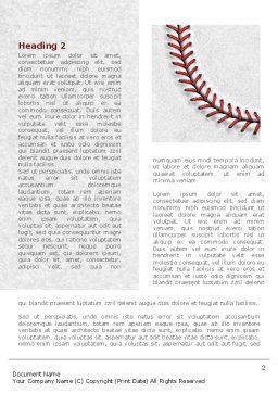 Baseball Stitching Word Template#3