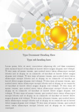 Orange Network Theme Word Template, Cover Page, 08206, Technology, Science & Computers — PoweredTemplate.com