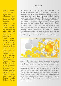 Orange Network Theme Word Template, First Inner Page, 08206, Technology, Science & Computers — PoweredTemplate.com